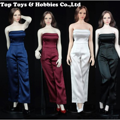 1//6 Female One-piece Dress /& High Heels for 12inch Action Figure Clothes