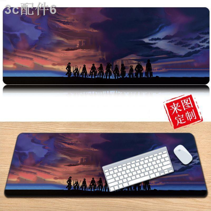 Attack on Titan Mikasa 90x40 Mouse Pad 3mm Allen Game Oversized Anime Table Mat Levier Keyboard