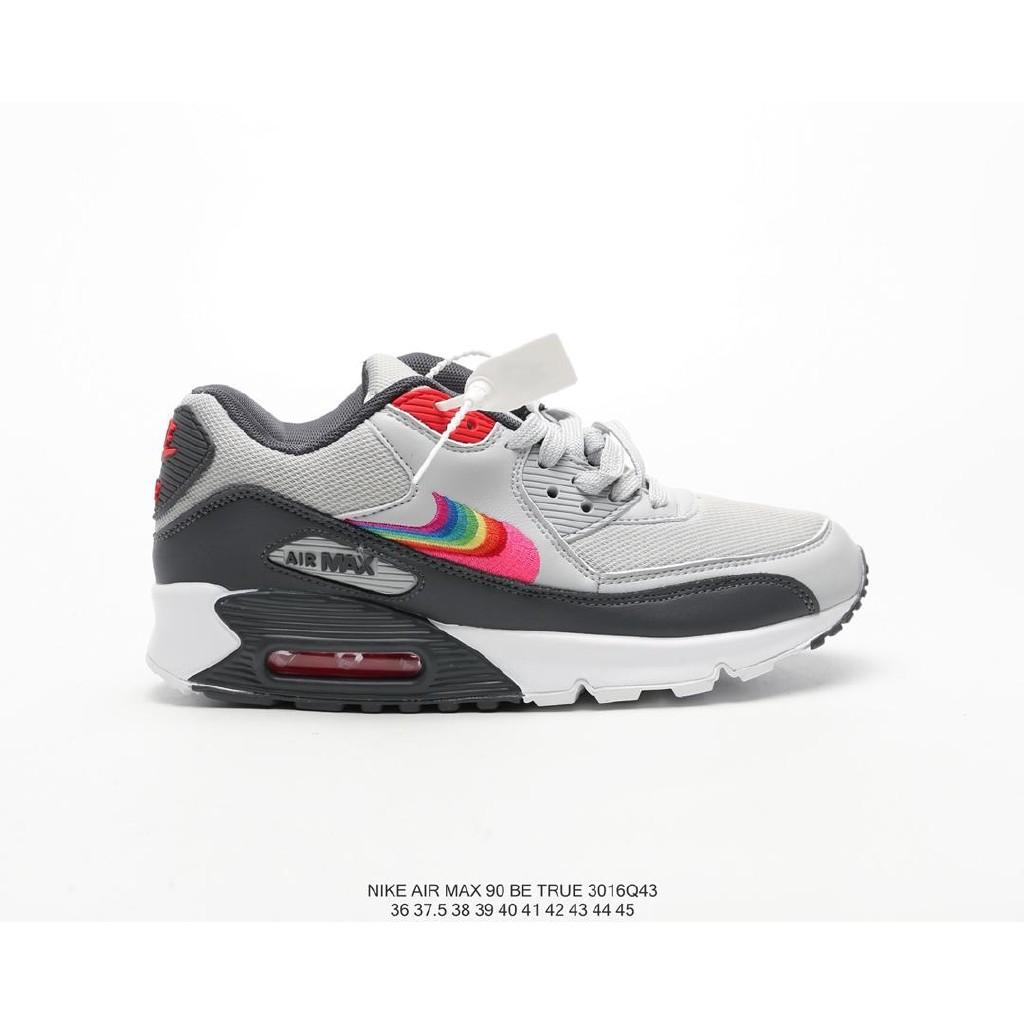 [พร้อมสต็อก] รองเท้าวิ่ง Nike Nike Air Max 90 Betrue รองเท้าวิ่งสำหรับผู้ชายและผู้หญิง สีเทา