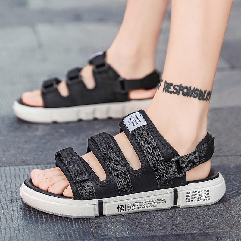 รองเท้าแตะ รองเท้าคัชชูผู้ชาย รองเท้ารัดส้น รองเท้าชาย รองเท้ารัดส้นผู้ชาย SKYE รองเท้ารัดส้น สีดำ เกาหลี ผู้ชาย รองเท้า