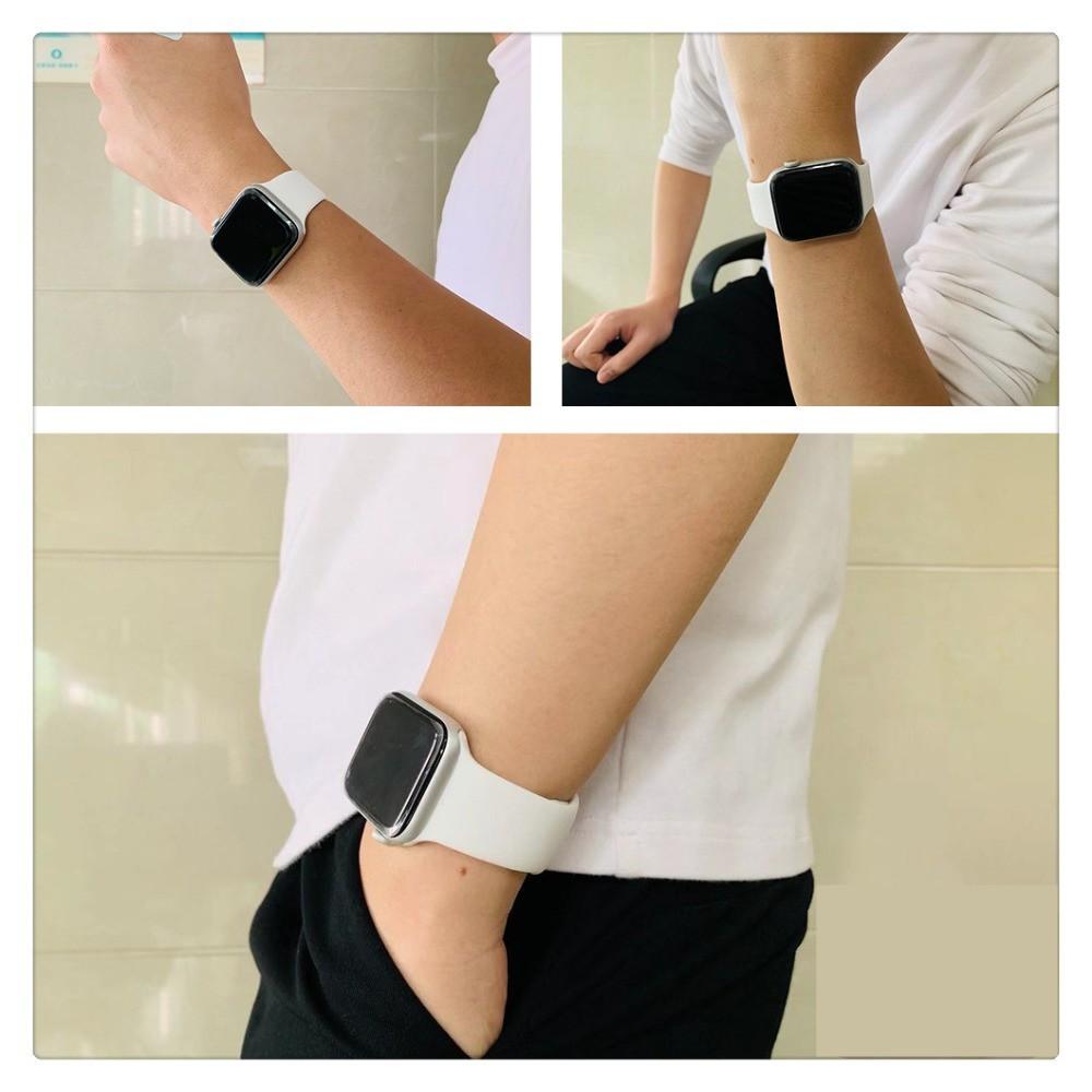 Apple Watch 6 Band Solo Loop สำหรับ Iwatch 5 4 3 2 38mm 40mm 42mm 44mm ซิลิโคนยืดหดได้สำหรับ Iwatch Series 1 ใหม่ Apple Watch Band สายนาฬิกาข้อมือซิลิโคน รัด ซิลิโคลน