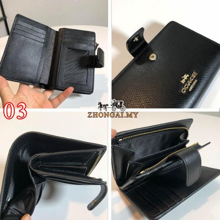 Nice พิเศษวันนี้ COACH Wallet F53436 กระเป๋าสตางค์ผู้หญิง กระเป๋าสตางค์พับ กระเป๋าสตางค์ใบสั้น กระเป๋าใส่บัตร