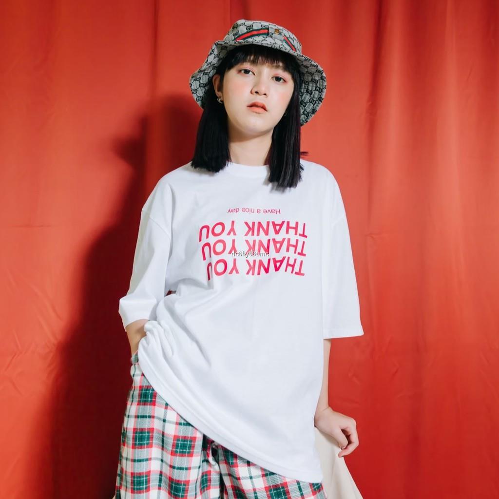 ราคาขายส่ง✻❁◎AMITY - เสื้อยืด Oversize : Thank You! (ขาว สกีนแดง)เสื้อยืดoversize เสื้อยืดเกาหลี เสื้อเกาหลี เสื้อยืดส