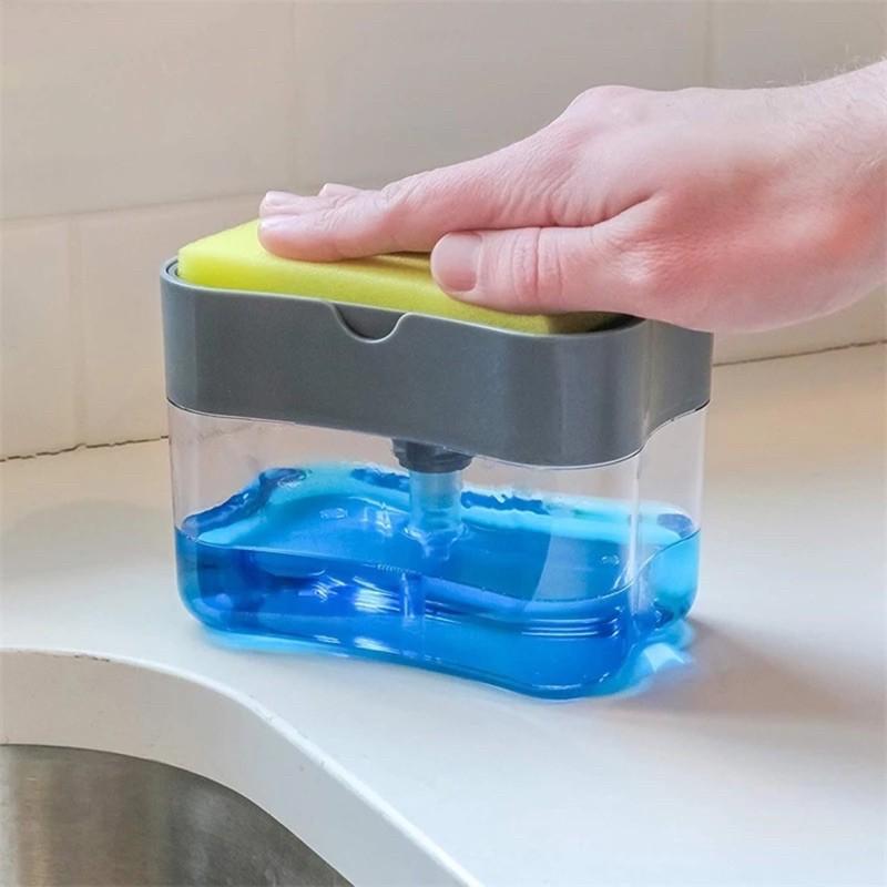 _xD83D__xDCCD_Soap pump Sponge Caddy ที่วางฟองน้ำกดน้ำยาล้างจานอัจฉริยะ_xD83D__xDCCD_