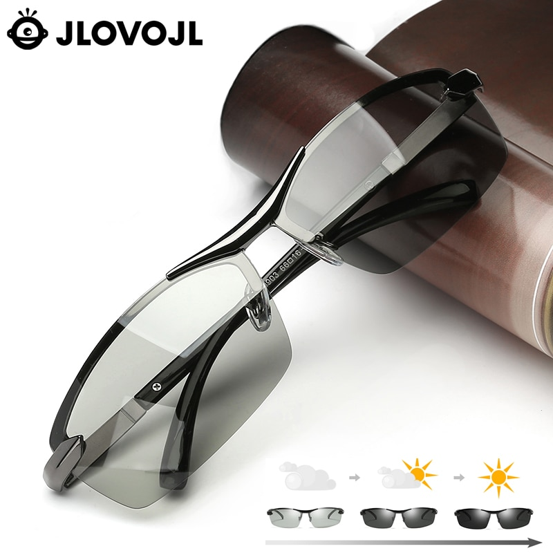 New Photochromic Sunglasses Suitable For Many Weather Driving Glasses  Anti Glare UV400 Square Unisex Goggles Oculos