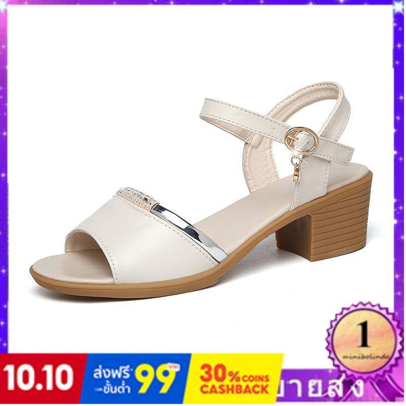 ⭐👠รองเท้าส้นสูง หัวแหลม ส้นเข็ม ใส่สบาย New Fshion รองเท้าคัชชูหัวแหลม  รองเท้าแฟชั่นรองเท้าแตะผู้หญิงใหม่ของผู้หญิงรองเ