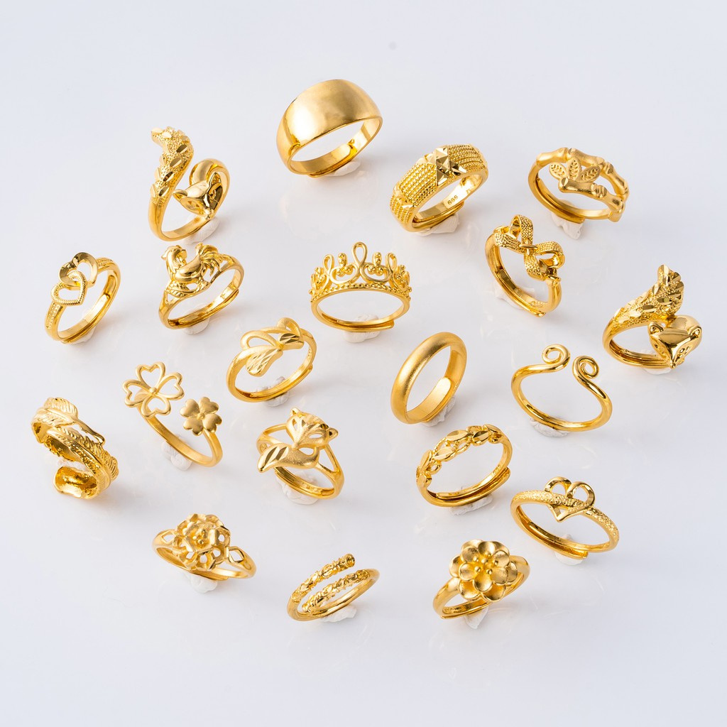 แหวนทองปรับได้ 20 วง❗️ แหวน แหวนทอง 2 สลึง 24k ไมครอนแท้ แหวนทองปลอม แหวนทอง 0.6 กรัม แหวนทอง แหวนเกลี้ยง แหวนทองครึ่งสลึง