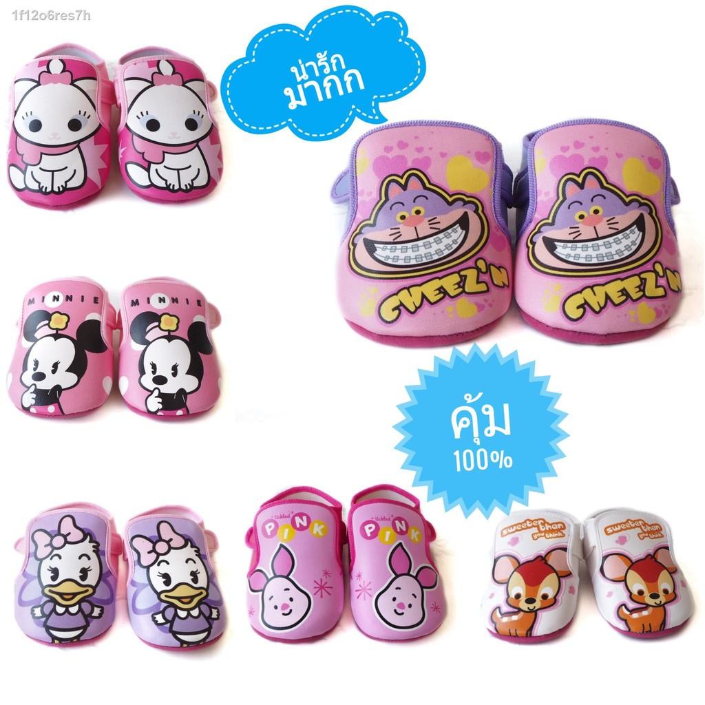 【แฟชั่น】∋รองเท้าที่ยั่งยืนเด็กอ่อน Disney Cuties รองเท้าคัชชูเด็กรองเท้าลายรองเท้าลายรองเท้าเด็ก