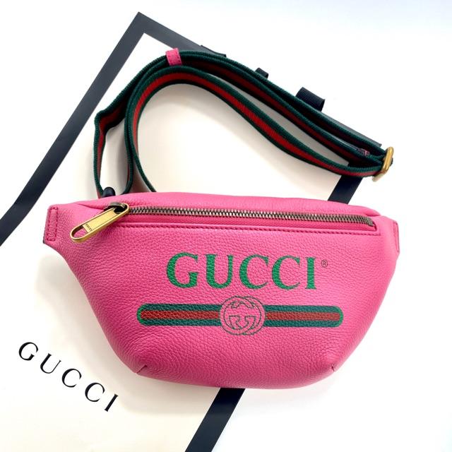 Gucci belt bag mini size 90,95 สีชมพู