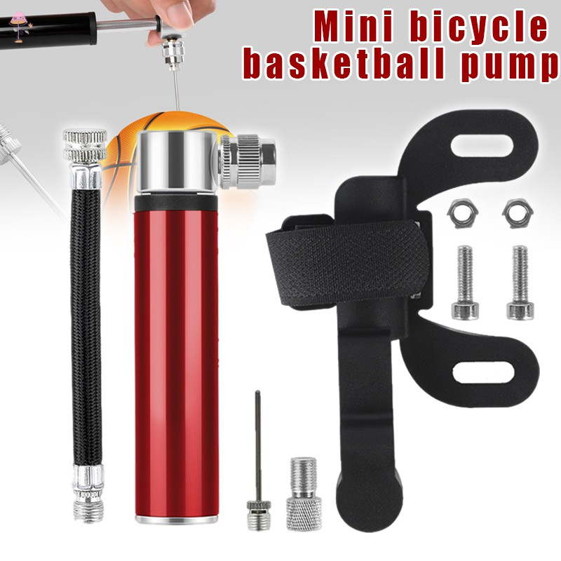 Portable Mini Cycling Bicycle Bike Pump w// Mount Compact Hand Pump Air Inflator