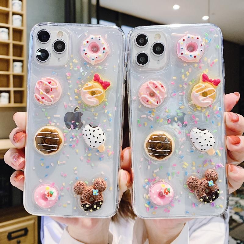เคสโทรศัพท์มือถือซิลิโคนรูปโดนัทสําหรับ Iphone11 Apple Xs 11promax