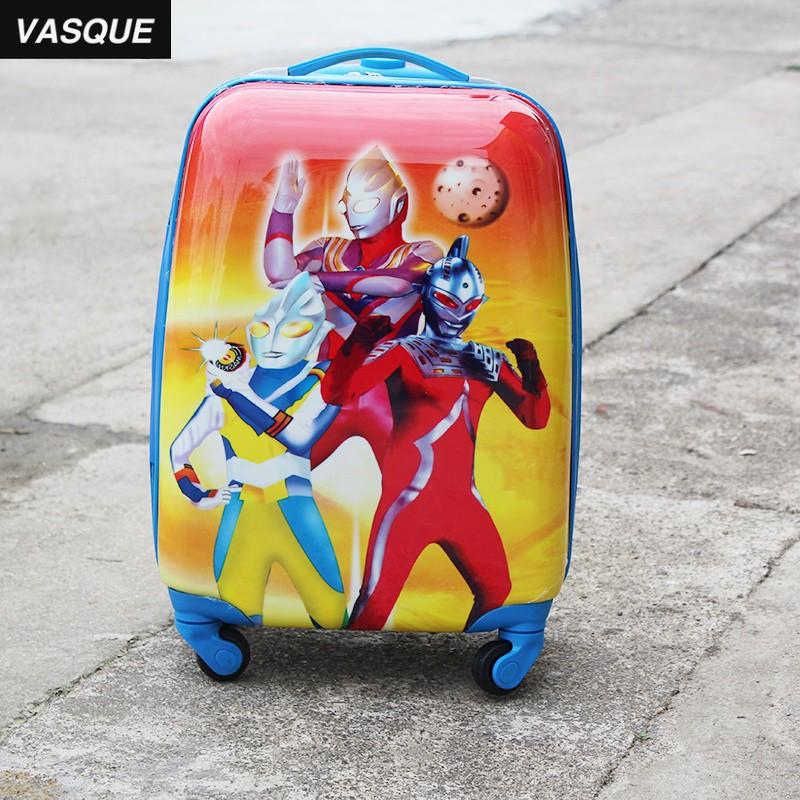 ぴ#กระเป๋าเดินทางเด็ก  กระเป๋ารถเข็นเดินทาง กระเป๋าเดินทางพกพา รถเข็นเด็กกระเป๋าเดินทางอุลตร้าแมนชายและหญิงกระเป๋าเด็กนัก