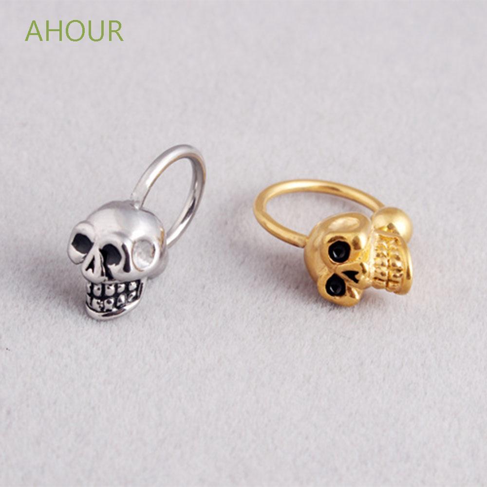Ahour Lip Skull Body Piercing Ear Piercing Nose Ring Hoop Earrings