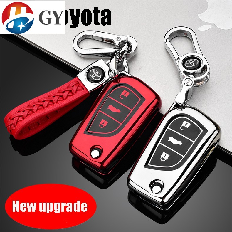 เคสกุญเเจรถยนต์ สีสันสดใส สำหรับ Toyota Yaris car key ...