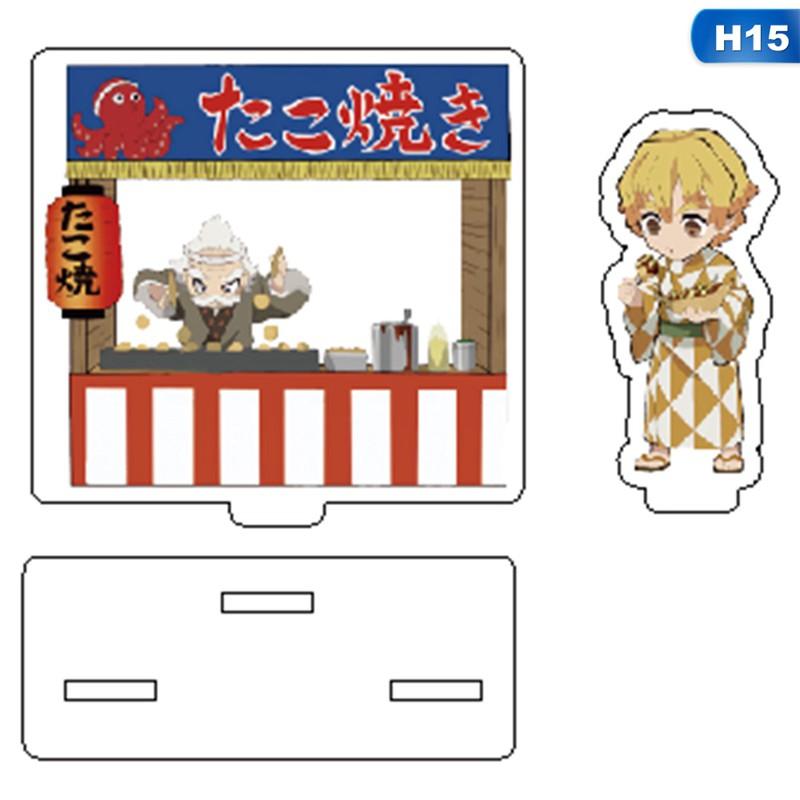 ✓▤┋Anime Stand Figure Love Thank You Demon Slayer Kimetsu No Yaiba Hashira Giyuu Muichiro Shinobu Acrylic Model Plate
