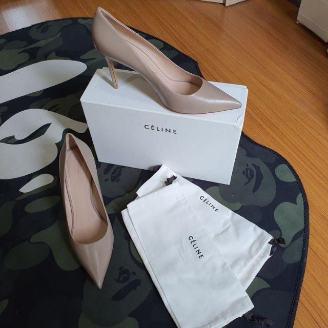 รองเท้าส้นสูง Celine สี taupe size 39 รองเท้าแบรนด์เนมแท้ รองเท้าส้นเข็ม รองเท้าคัชชู