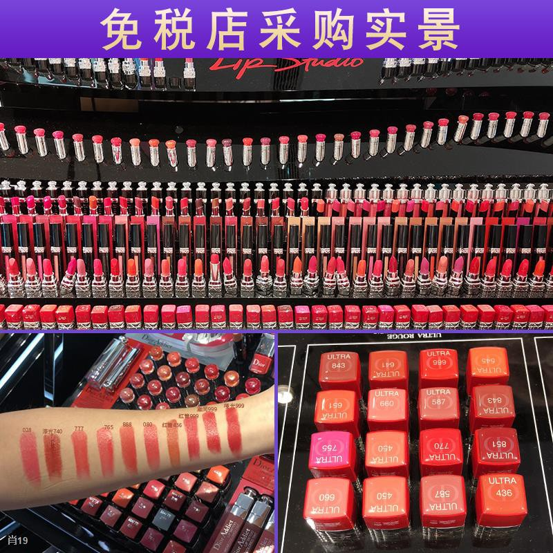 ✔◑Dior Lipstick Matte 999 Limited Edition Red Tube Lacquer 740520888 Big Brand Genuine New