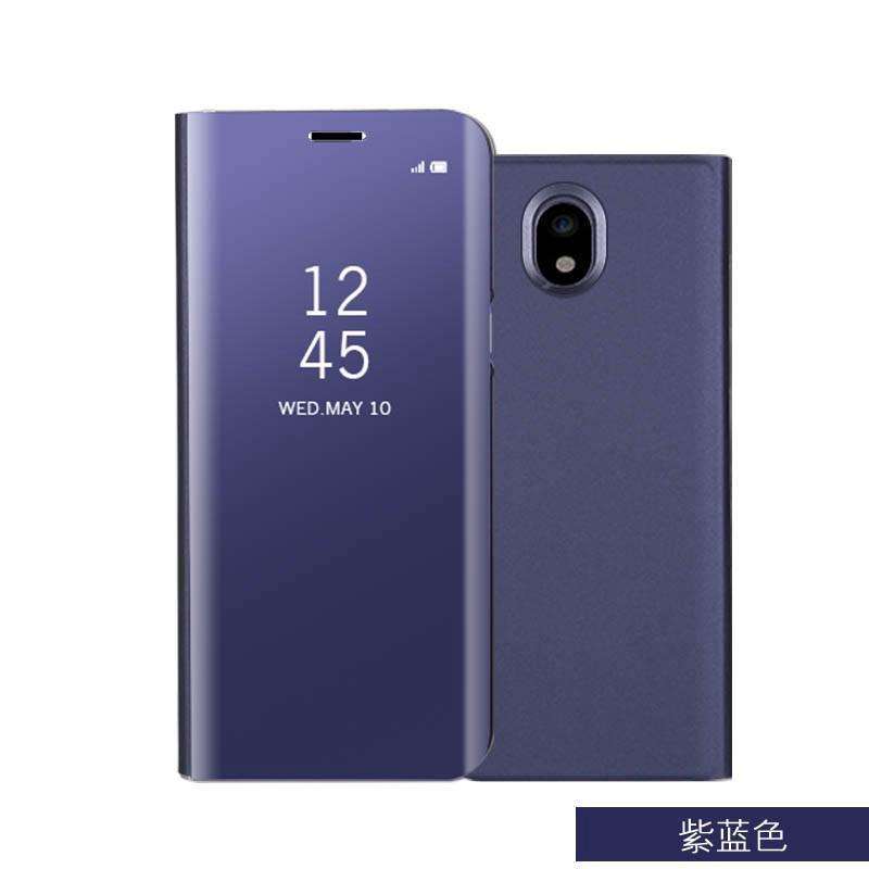 Flip Leather Casing Samsung Galaxy J3 J5 J7 2017 Pro J730 J530 J330 Mirror  Clear Cases