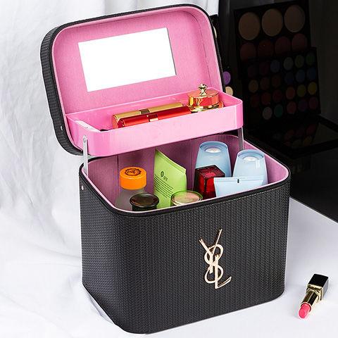 suitcaseกระเป๋าเดินทาง 24 นิ้วที่จัดระเบียบกระเป๋าความจุขนาดใหญ่สุทธิกระเป๋าเครื่องสำอางสีแดงมัลติฟังก์ชั่ขนาดเล็กกระเป๋