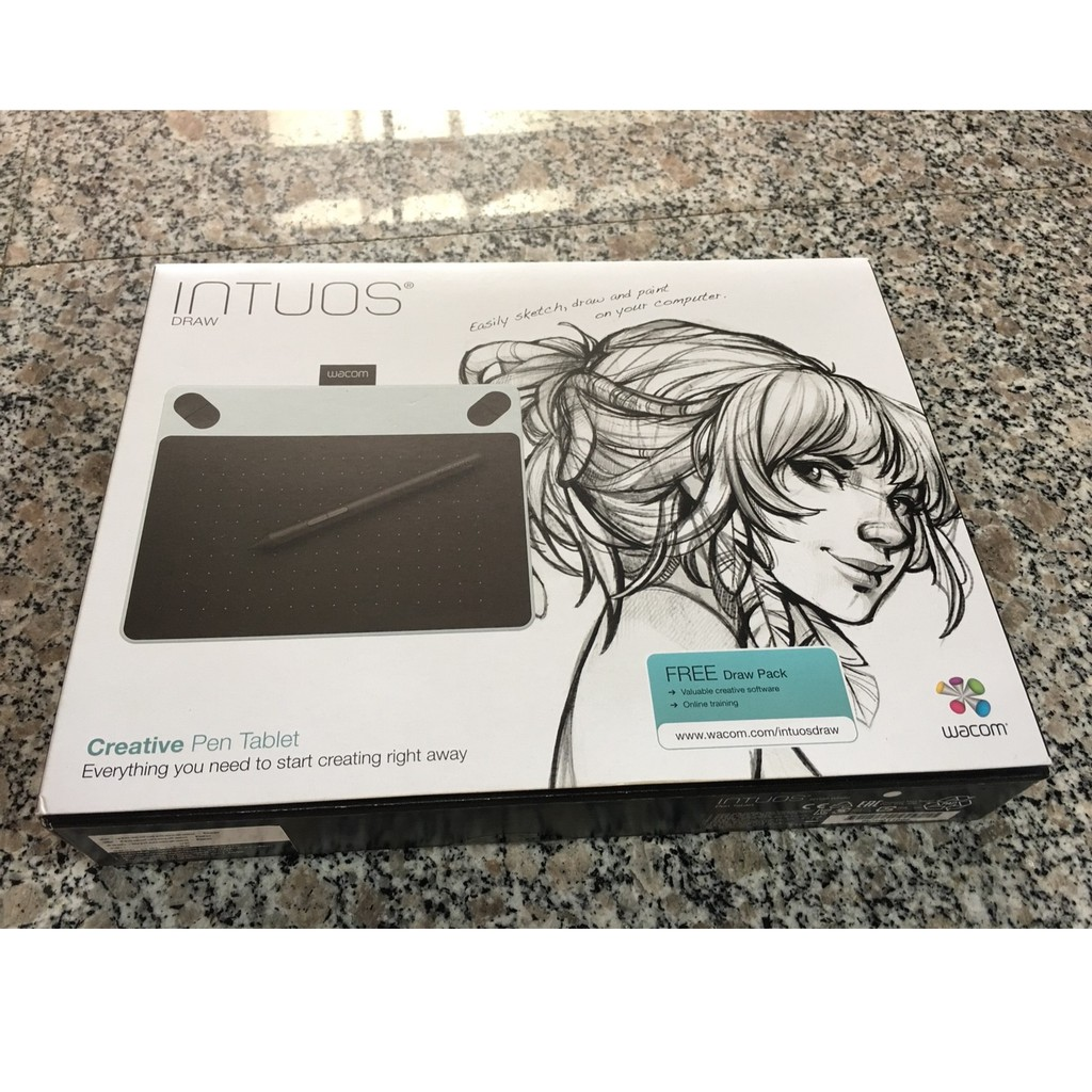Hot Deal (มือสอง)Wacom Intuos Draw Small (CTL-490/W0-C) (White) ราคา