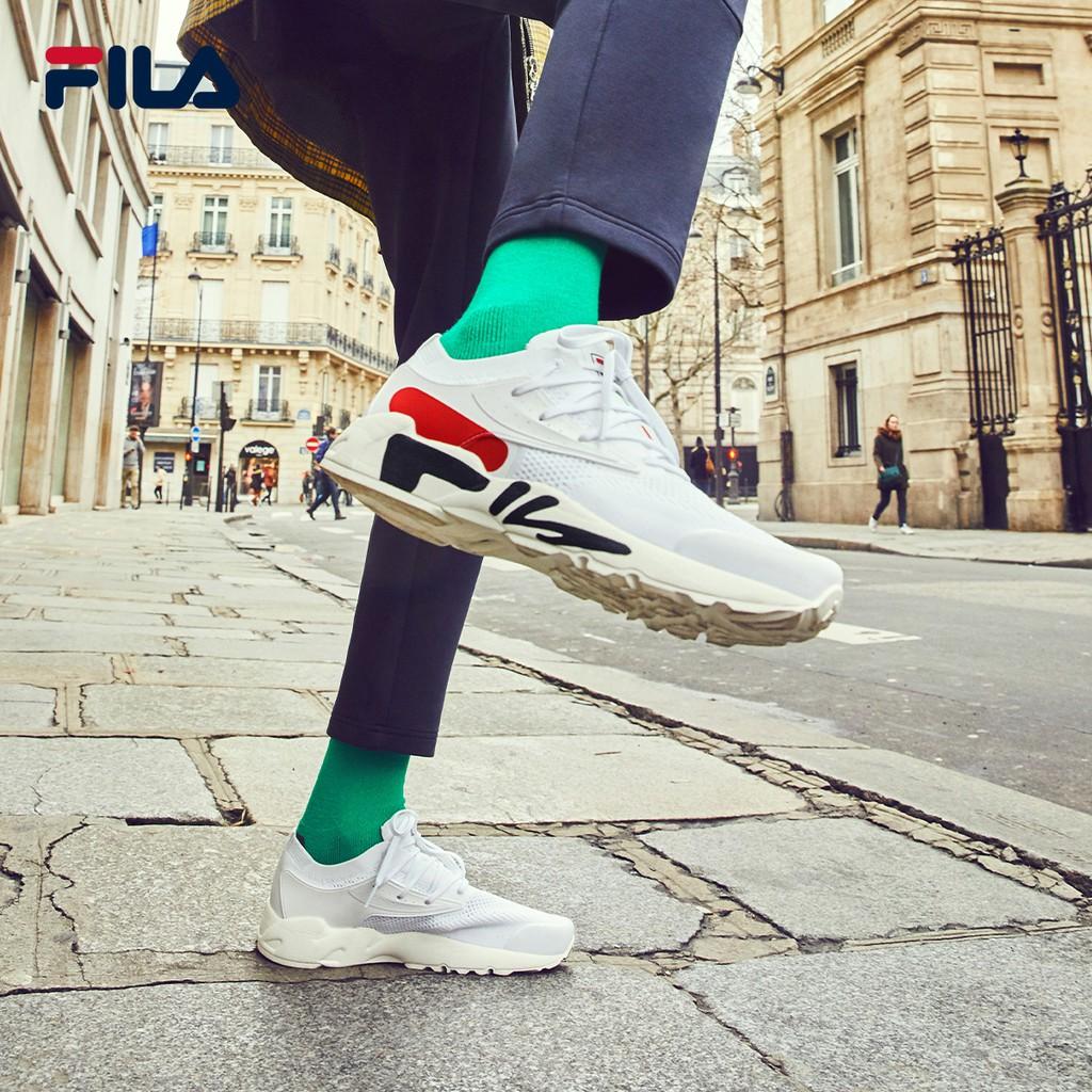 ✟✤FILA รองเท้าวิ่งรองเท้าผู้ชาย 2021 ฤดูใบไม้ผลิใหม่ตาข่ายระบายอากาศรองเท้ากีฬารองเท้าวิ่งย้อนยุค