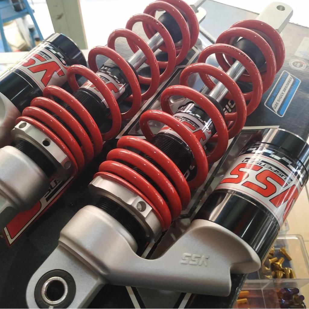 YSS โช๊คแก๊ส ใช้อัพเกรดสำหรับ Yamaha Nouvo 135 / Elegance , Honda Airblade( TC302-310T-01V-85)