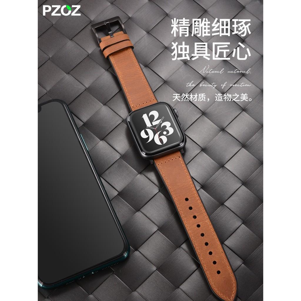 Apple watch strap·PZOZ เหมาะสำหรับ Apple watch iwatch6 สาย applewatch5 รุ่นหนัง apple watch4 สายนาฬิกา series3 หนัง / s6 / s5 / s4 / 2 ชายและหญิง se44mm