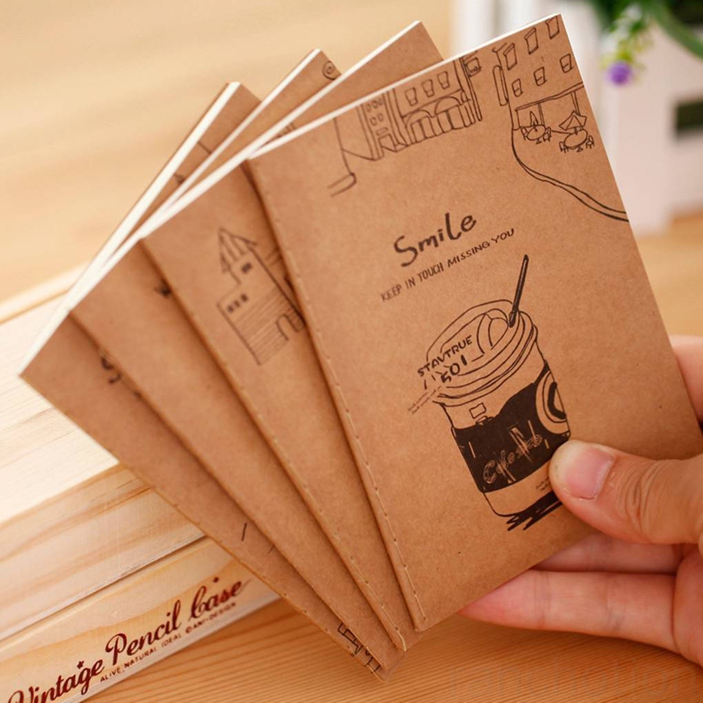 Retro Exercise Books Students Cute Soft Copy Of Cartoon Mini Notebook School Stationery ranchotion