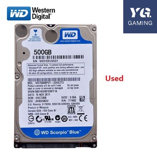 """Used 500GB SATA 5400RPM 2.5/"""" Hard Drive Tested"""