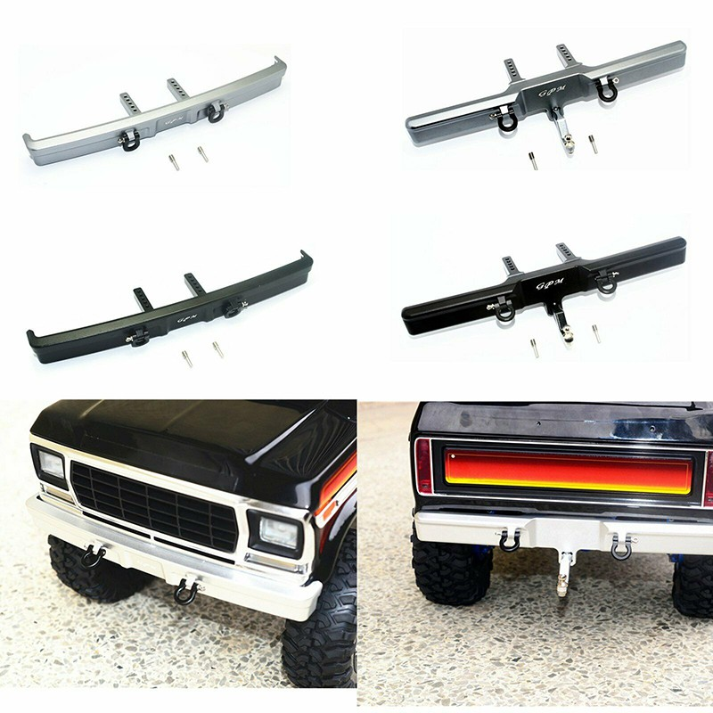 อุปกรณ์เสริมรถยนต์ 1 / 10 Traxxas TRX 4 Ford bronco RC Car Metal Front  /rear Bumper Accessories