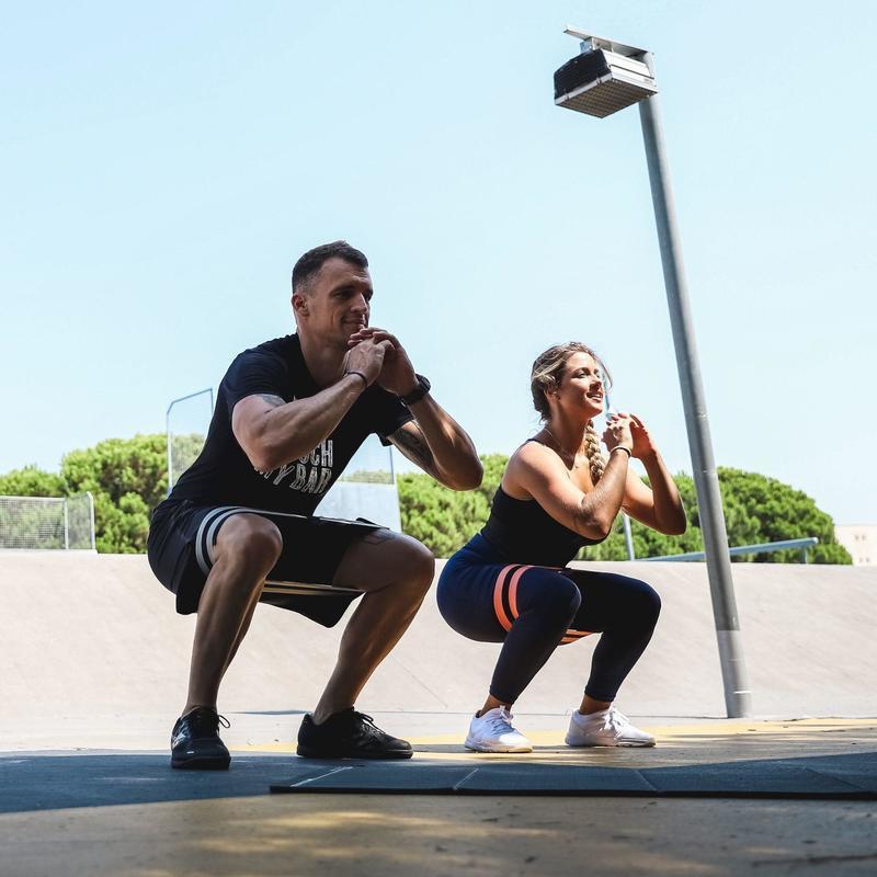 ✔️เตรียมการจัดส่ง✔️ยางยืดออกกำลังกาย  ยางยืดออกกำลังกาย แบบแรงต้าน Resistance Glute Band โยคะ พิลาทิส yoga ยางยืดออกกำล0