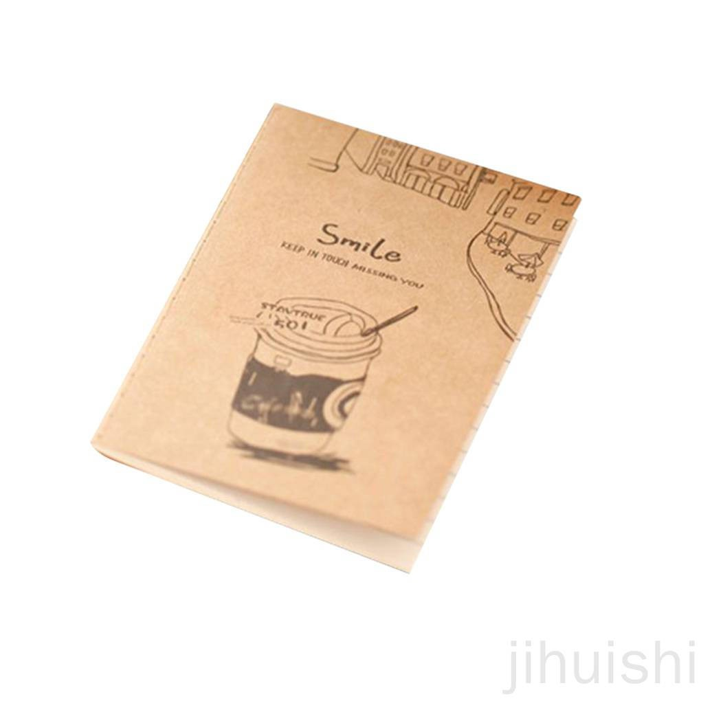 JS_Retro Exercise Books Students Cute Soft Copy Of Cartoon Mini Notebook School Stationery