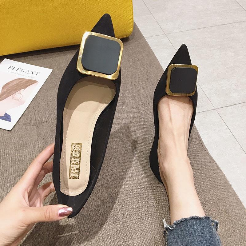(มีสินค้า)รองเท้าคัชชูหัวแหลมสำหรับผู้หญิง, รองเท้าผู้หญิง, แฟชั่น, รองเท้าส้นแบนหัวแหลม, รองเท้าตักพื้นนุ่ม