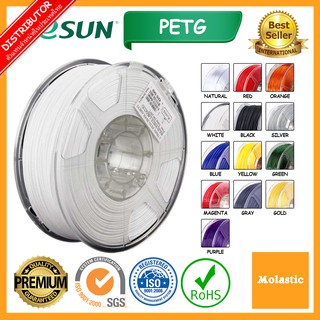 PETG eSun 3D Filament (White PETG,Black PETG,Silver PETG,Gray PETG,Natural PETG,Red PETG,Yellow PETG,Green PETG)