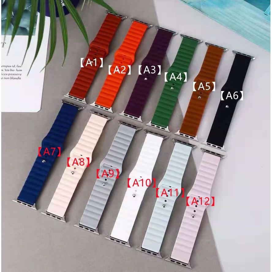 ระลอกน้ำแฟชั่น Apple Watch strap สายซิลิโคน iWatch Series SE 6 5 4 3 2 1 สาย applewatch 38 40 42 44mm