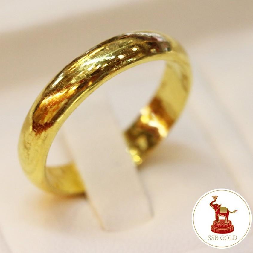 ราคาพิเศษ☒▫แหวนทอง 1 สลึง ทอง 96.5%  ลายเกลี้ยง ทองแท้ ขายได้ จำนำได้ มีใบรับประกัน [ผ่อน0%ผ่านบัตรเครดิต]