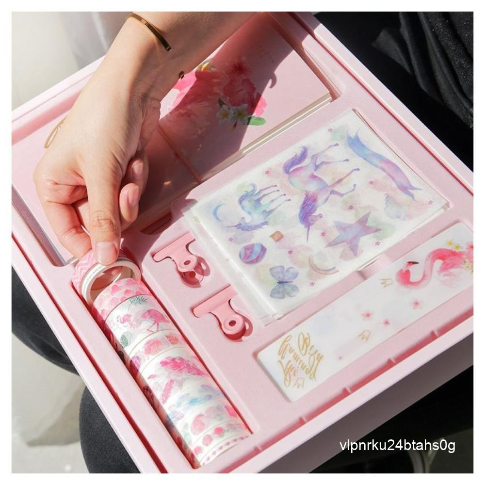 . Heart Hand Girl Book Deluxe Edition Stationery Hand Book Gift Set Creative Hand Book Gift Notebook Set