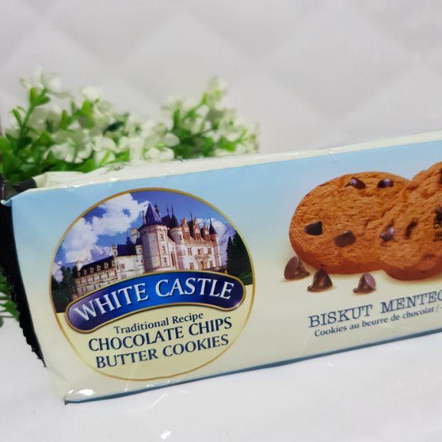 คุกกี้ White castle Chocolate chips butter cookies คุกกี้ช็อคโกแลตในตำนาน อร่อย ของแท้จากมาเลย์ มีฮาลาล