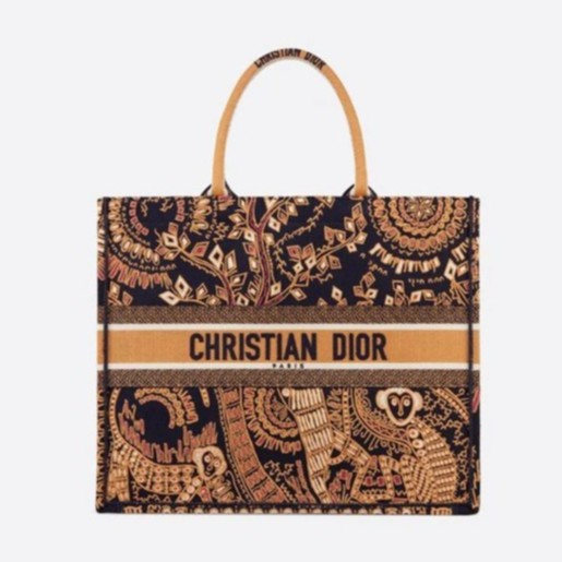 Dior Book Tote monkey Embroidered Canvas bag