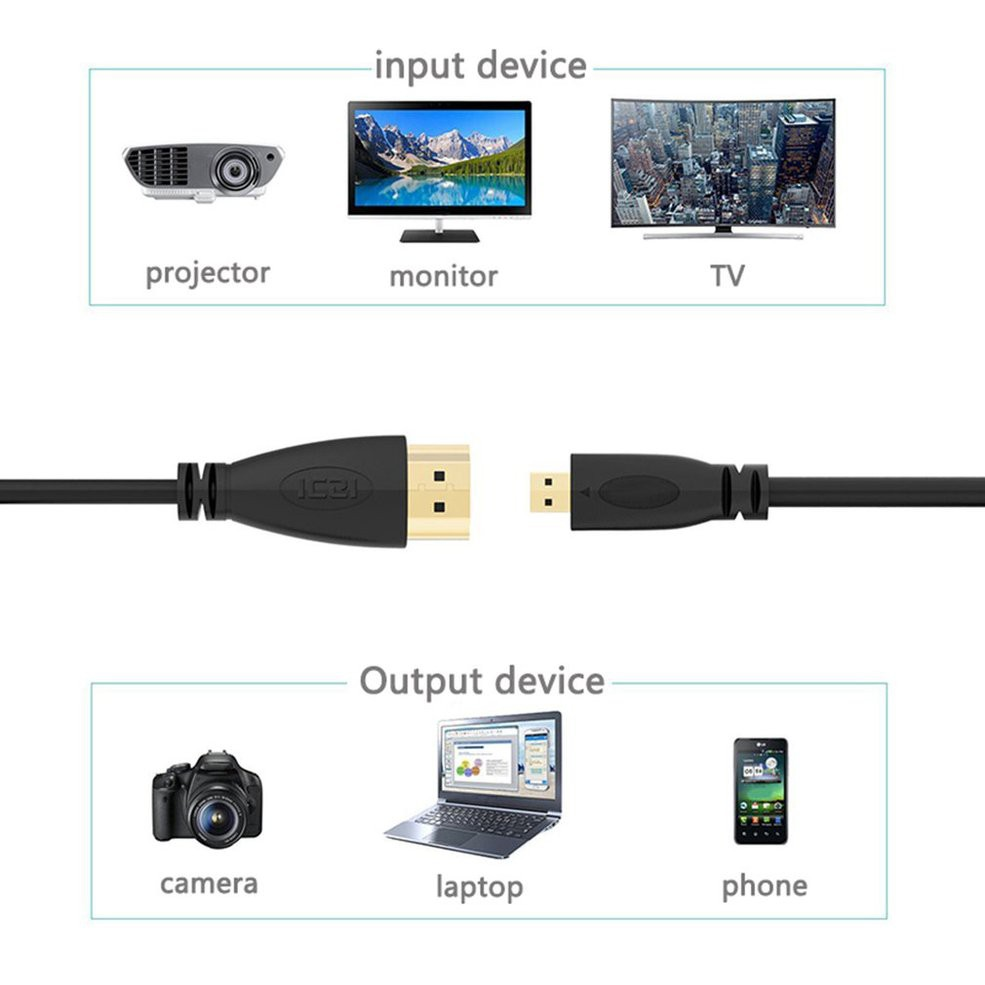สายเคเบิลแท็บเล็ต 1 เมตร 1080p Cro Hdmi-compatible To Hdmi-compatible Adpter