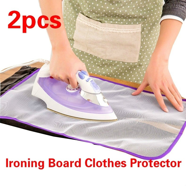 Ironing Board Clothes Protector Polyester Pad See-through For Delicate Fabrics