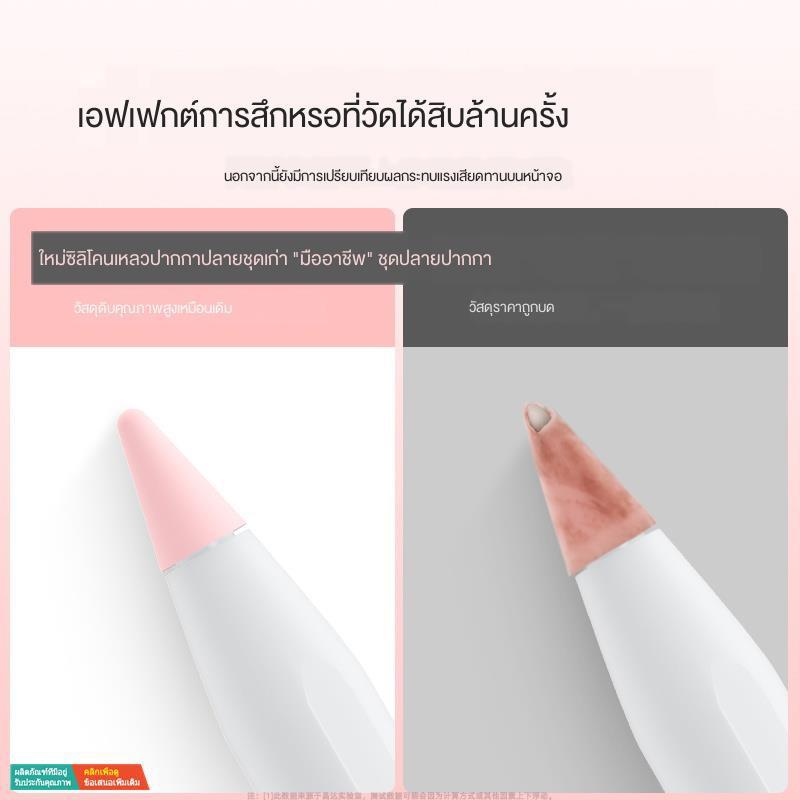 พร้อมส่งApple pencil pen tip cover iPad tablet ipencil ultra-thin silent generation second protective pro thin transpar