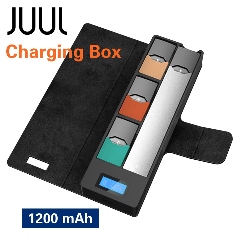 JUUL Accessories Charger Storage Box for JUUL00 Mobile Portable Charging  1200mAh
