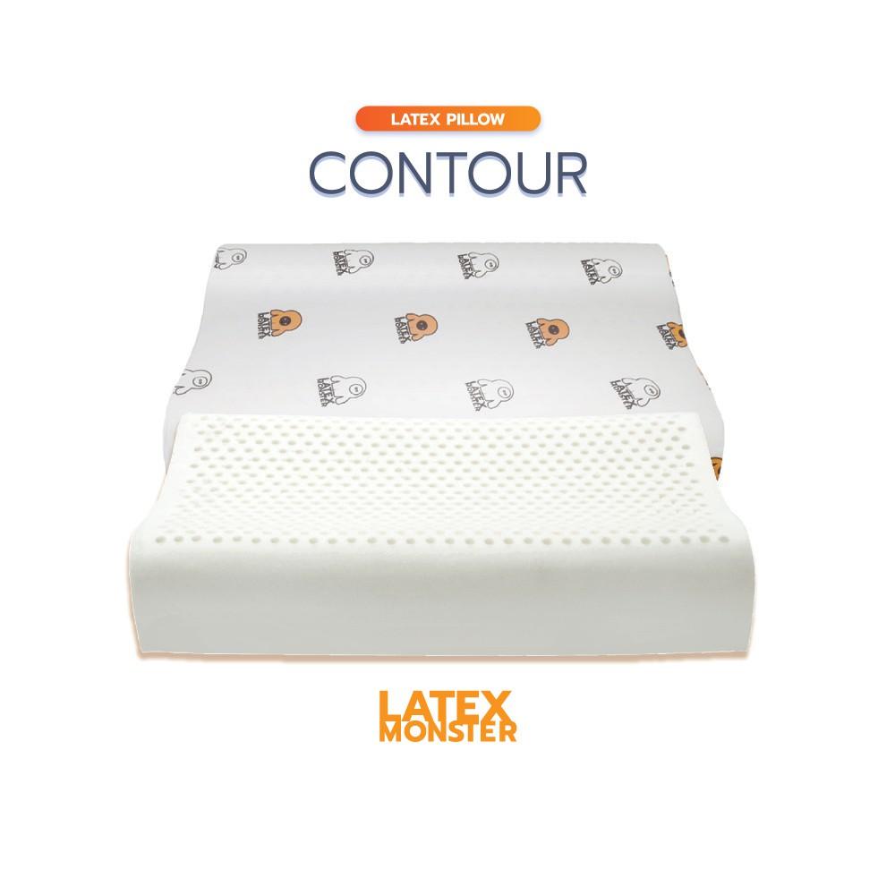 LATEX MONSTER หมอน หมอนยางพารา แท้ เพื่อสุขภาพ ปรับสรีระในการนอนได้ถูกต้อง