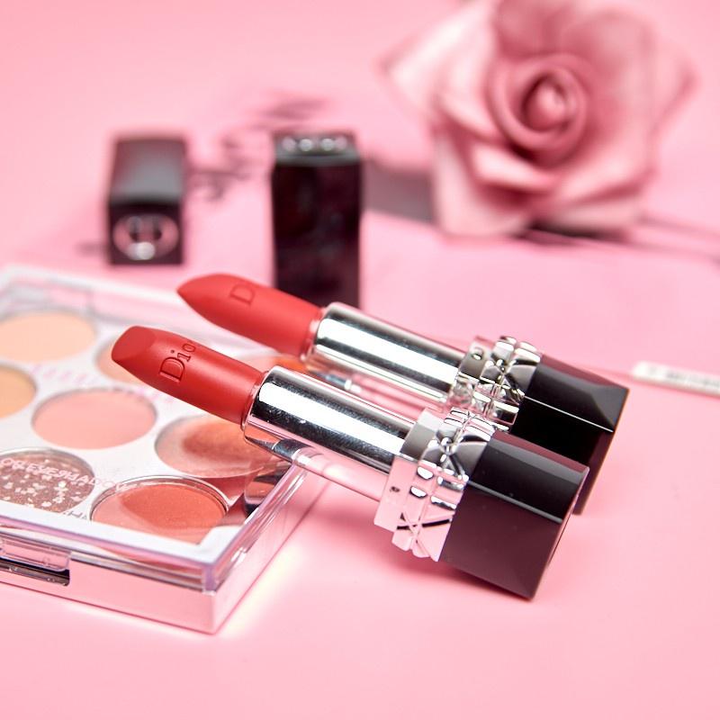ราคาพิเศษ◈ลิปสติก Dior Lip Glow Rouge Dior Matte Lipstick Couture Colour Comfort and Wear Lipstick, 999 ลิปสติกดิออร์ ลิ