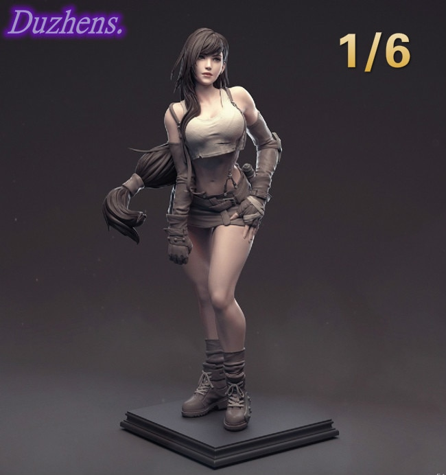 (In Stock)Duzhens Resin model Garage Kit FINAL FANTASYVII Tifa.Lockhart Action Figure Anime Figure Model Toys Figure Col