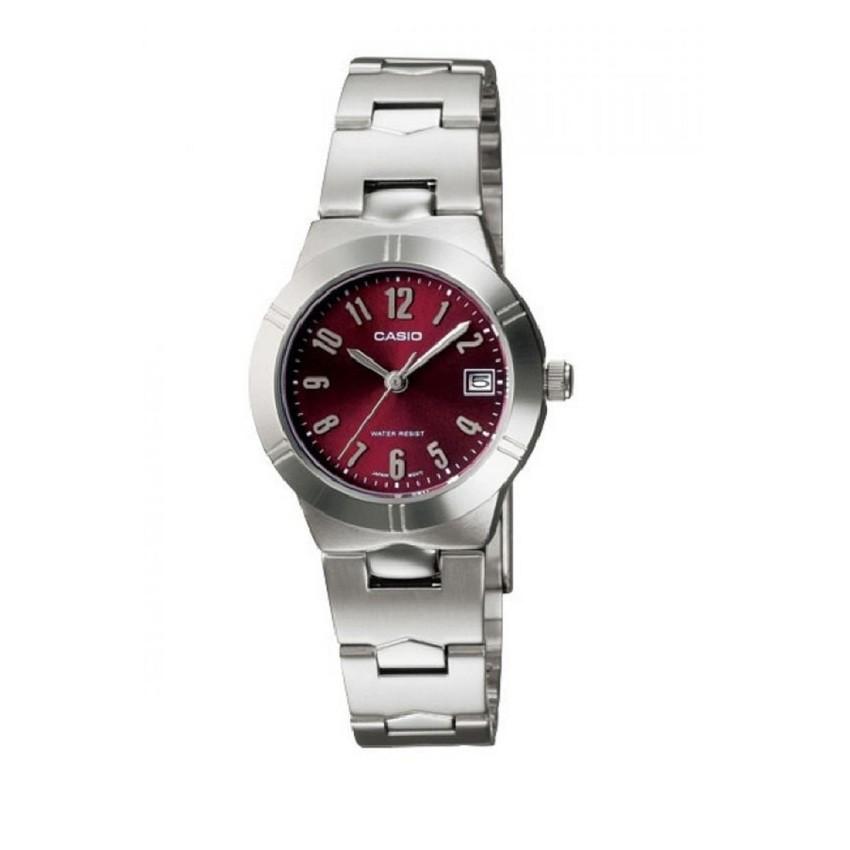 Casio Analog Lady นาฬิกาข้อมือผู้หญิง สายสแตนเลส รุ่น LTP-1241D-4A2DF - สีเงิน/ชมพู
