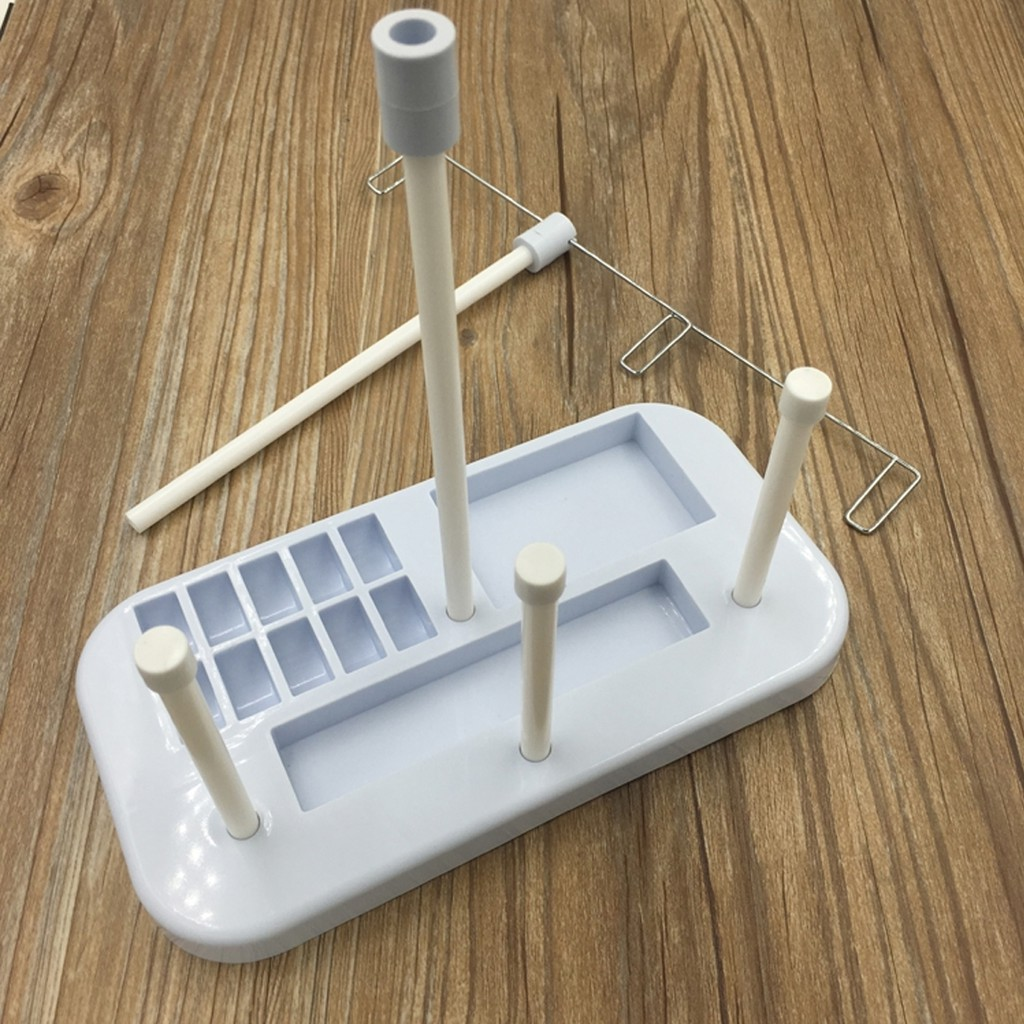 Find Price Plastic Strip 3 Embroidery Thread Spool Holder Stand Sew