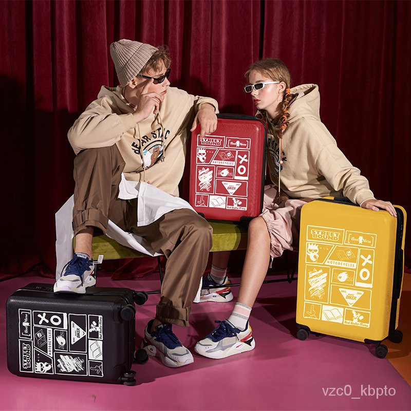 กระเป๋าเดินทางผู้หญิงใบเล็ก24นิ้วกล่องกินนอนรถเข็นเพศหญิง2021ใหม่กระเป๋าเดินทางชายน้ำหนักเบาทนทาน