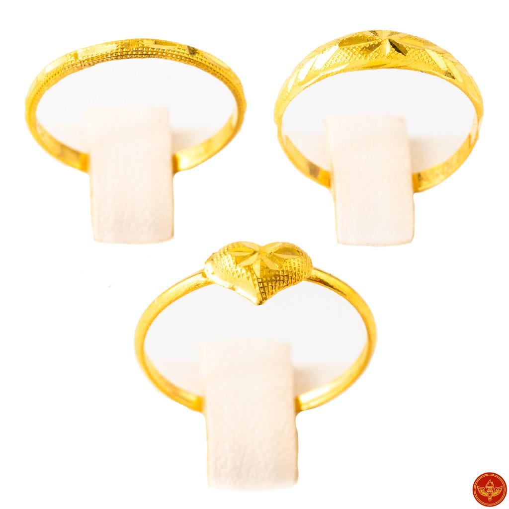 [ทองคำแท้] LSW แหวนทองคำแท้ 0.6 กรัม ราคาพิเศษ มาพร้อมบัตรรับประกัน (FLASH SALE 1)